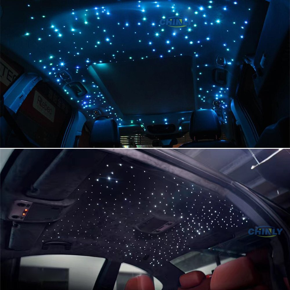 Car use 12W RGBW Remote Music Mode LED Fiber optic light Star Ceiling Kit Lights 260pcs 0.03in 6.5ft optical fiber lighting by CHINLY (Image #2)