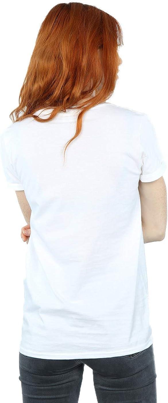 Disney Women's Minnie Mouse Face Boyfriend Fit T-Shirt White