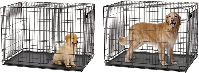 Alta calidad Luxus Perros jaula 92,1 X 57,7 X 62,8 cm caja de transporte transporte jaula plegable para perros jaula perro negro: Amazon.es: Productos para mascotas