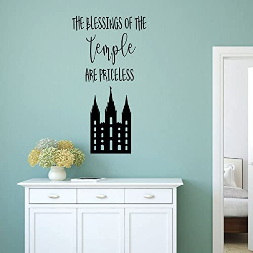 Amazon.com: LDS Temple Wall Decal - Salt Lake City Art - The ...