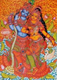 Radha Krishna - Kerala Murali Warli Painting