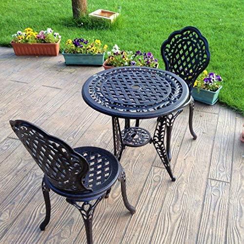 Lazy Susan - Table Bistro Ivy avec 4 chaises Bistro Ivy Assorties - Salon  de Jardin en Aluminium moulé, Bronze Ancien