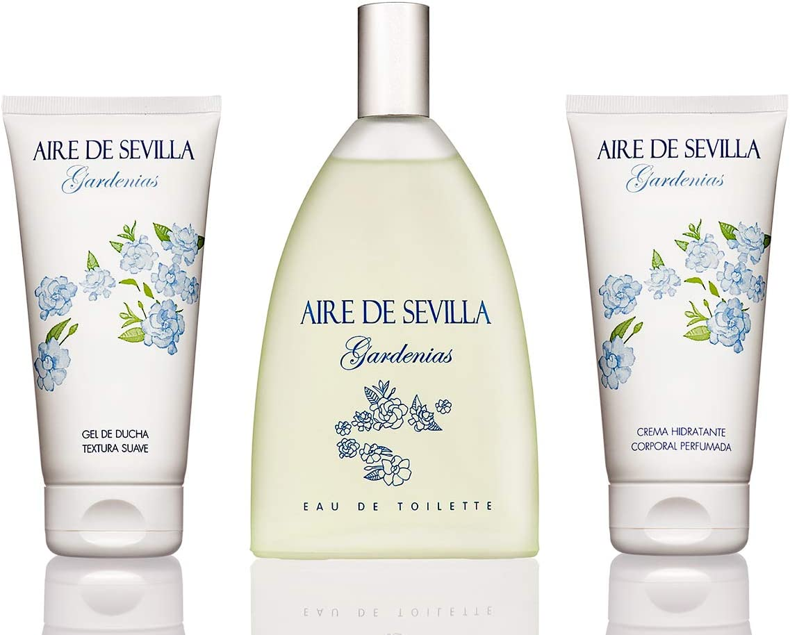 Aire de Sevilla Gardenias Set Perfume para Mujer - EDT, Crema Perfumada y Gel Exfoliante: Amazon.es: Belleza