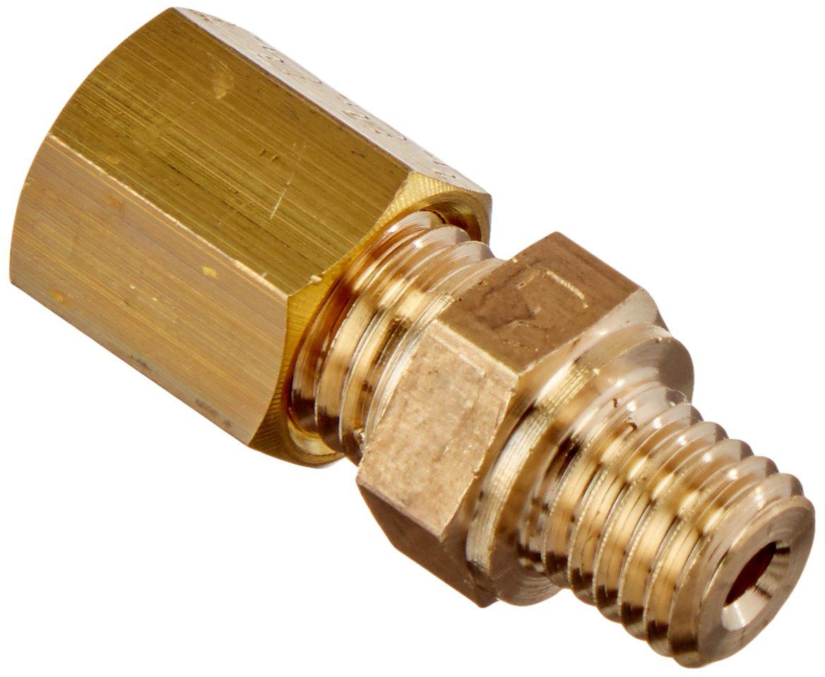 Parker Legris 0101 04 55-pk5 Legris 0101 04 55 Brass Compression Tube Fitting Pack of 5 4 mm Tube OD x M7X1 Male Metric Thread Brass Adaptor