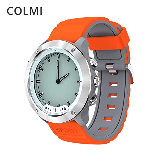 COLMI M5 Reloj Inteligente para Hombres Pantalla Clara Monitor de Ritmo cardíaco Relojes de Acero Inoxidable a Prueba de Agua Relojes Inteligentes para iOS ...