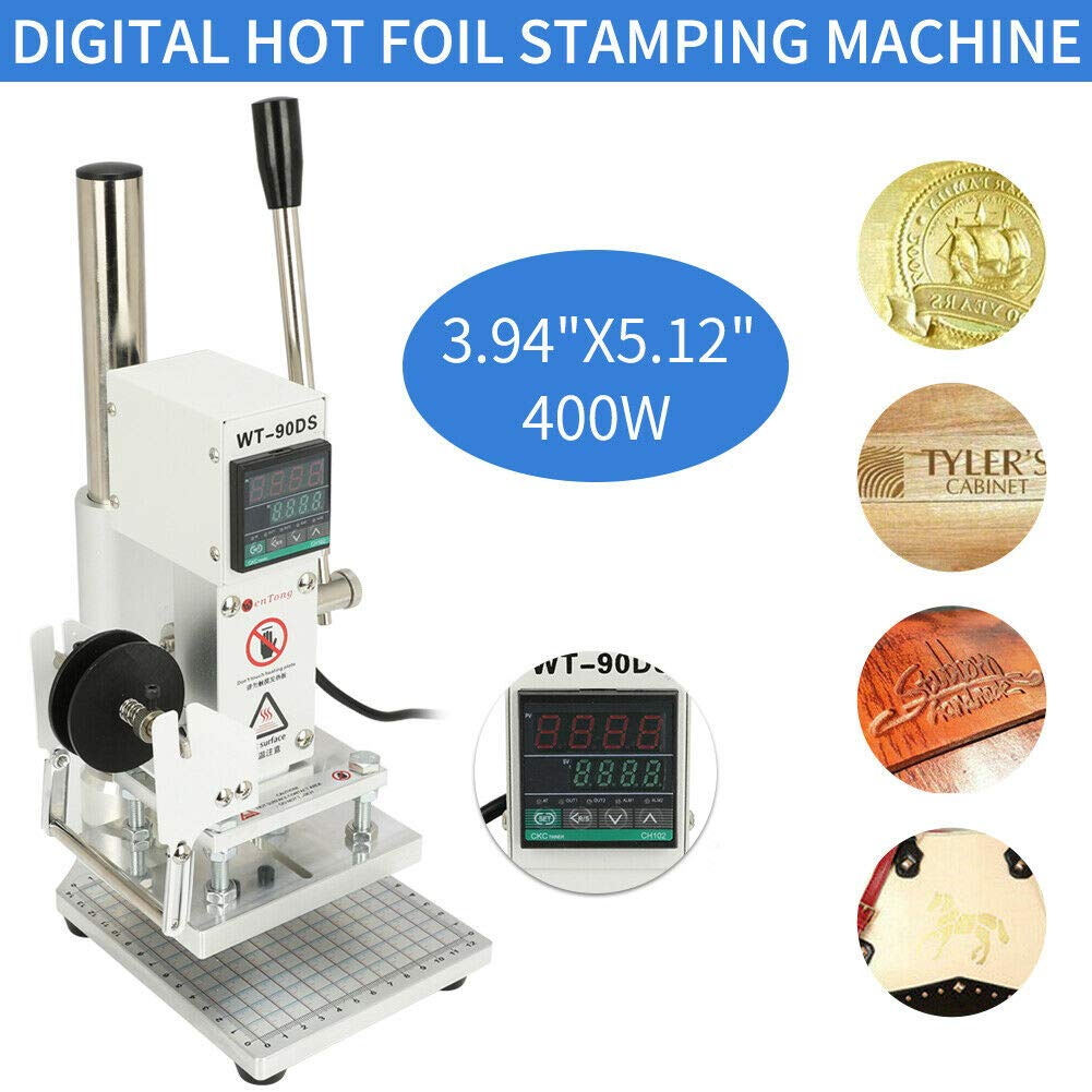 110v 10x13cm Digital Display Hot Foil Stamping Machine for PVC Leather PU Paper Logo Embossing by Taishi