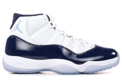 353e82188283 Jordan Nike Men s Air 11 Retro White Navy Blue 378037-123 (Size