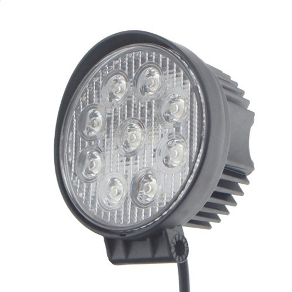 Shanren 27w Round Led Work Light Lamp Off Road High Wiring On A Tractor Lights Power Atv Jeep 4x4 30 Degree Spot Automotive