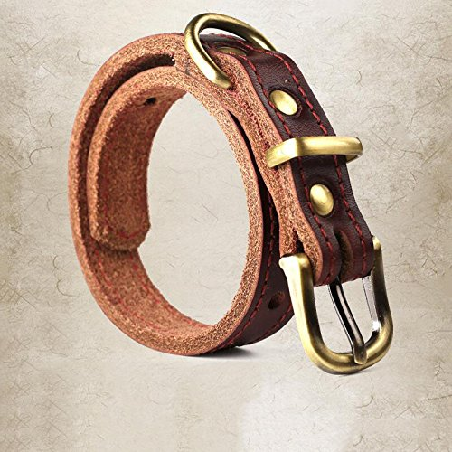 A_Feel Dog Harnesses Cowhide dog collar dog collar medium dog large dog...