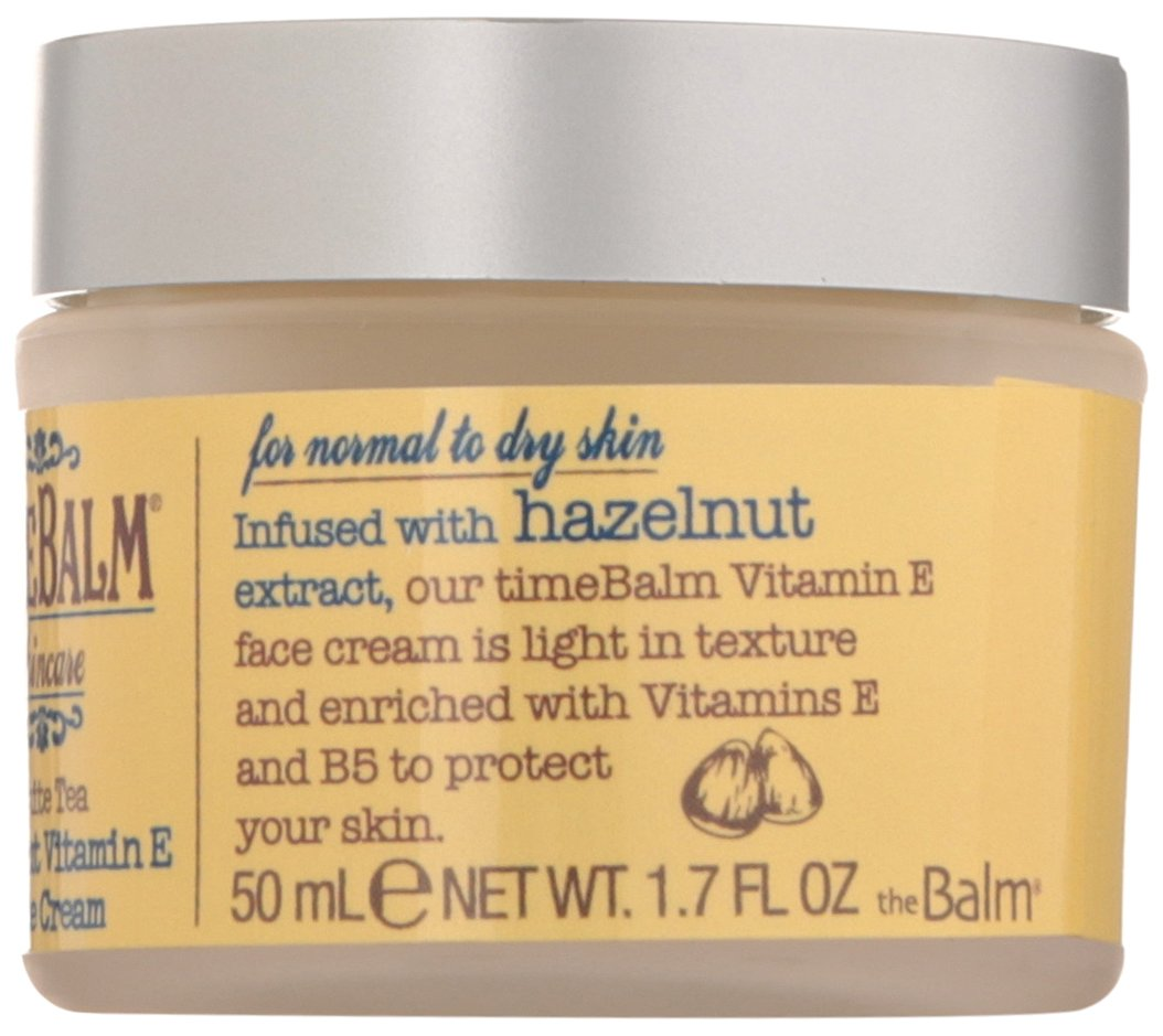 TimeBalm Skincare Hazelnut Vitamin E Face Cream - 1.7 oz. by theBalm (pack of 4) Bulldog Skincare for Men Sensitive Face Moisturizer 3.3oz