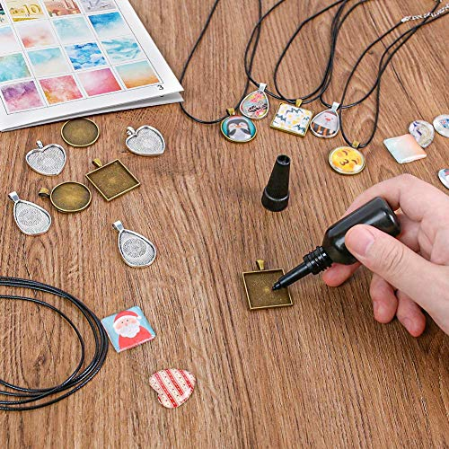 3 otters Pendant Trays for Jewelry Making, 75PCS Girls Dress Up Jewelry Kids Necklace Making Kit 280 Patterns DIY Craft Making Supplies