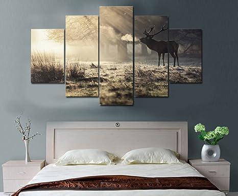 Stampe Cucina Moderna : La vie pezzi wall art elk nella foresta stampe decor poster arte