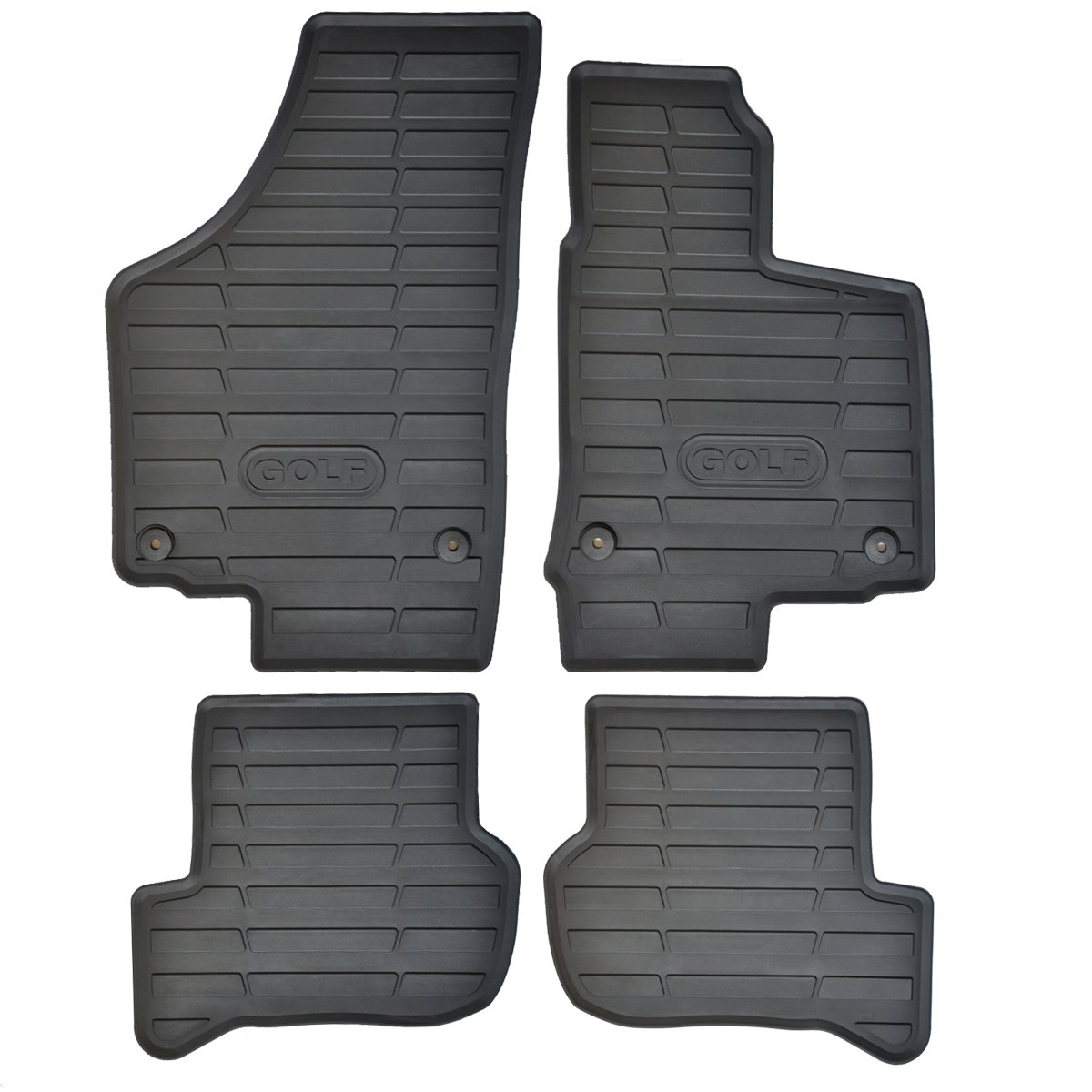 Rubber mats glasgow - Volkswagen Vw Golf Mk6 Rubber Car Mats 2009 12 Fully Tailored Amazon Co Uk Car Motorbike