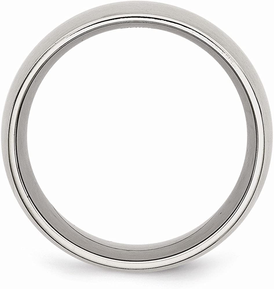Mens Stainless Steel Brushed Wedding Band Ring