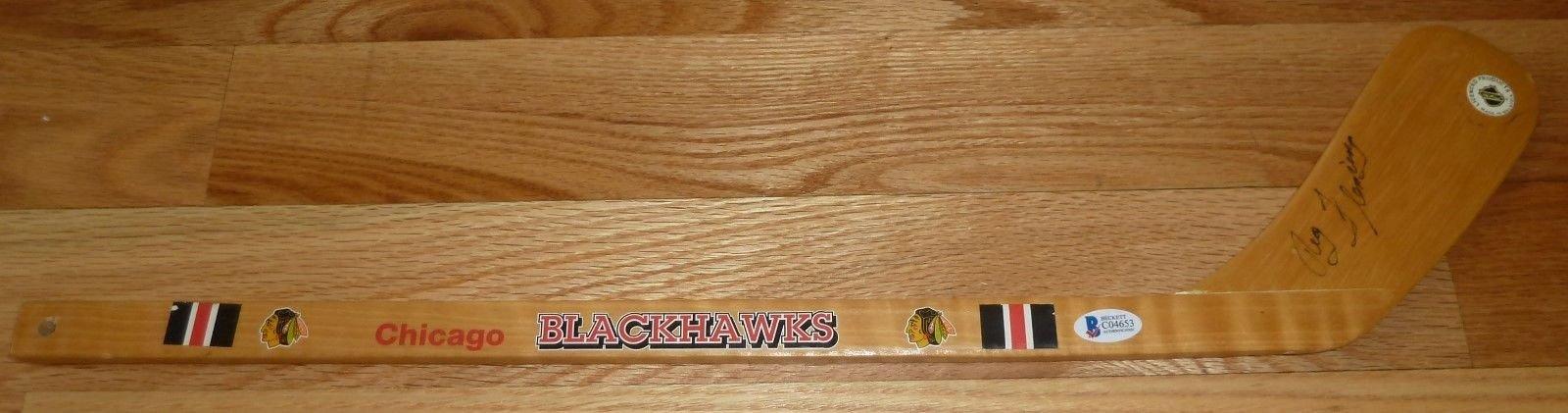 Beckett Bas Reg Fleming Autographed Signed Autographed Signed Chicago Blackhawks Hockey Stick 04653