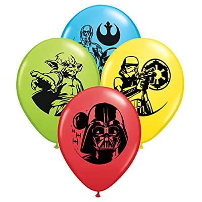 "Pioneer Balloon Company 25 Count Star Wars Special Latex Balloons, 11"", Assorted: Toys & Games"