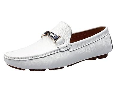 SK Studio Mocasines de Cuero Hombre Zapatos del Barco Respirable Calzado Zapatos de Conducción Mocasine: Amazon.es: Zapatos y complementos