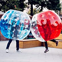 Popsport Inflatable Bumper Ball 4FT Bubble Soccer Ball 0.8mm Eco-Friendly PVC Zorb Ball Human Hamster Ball for Adults and Kids