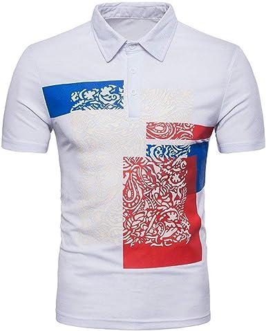 BOLAWOO Polo De Los Hombres Camiseta Básica De Los Mode De De ...