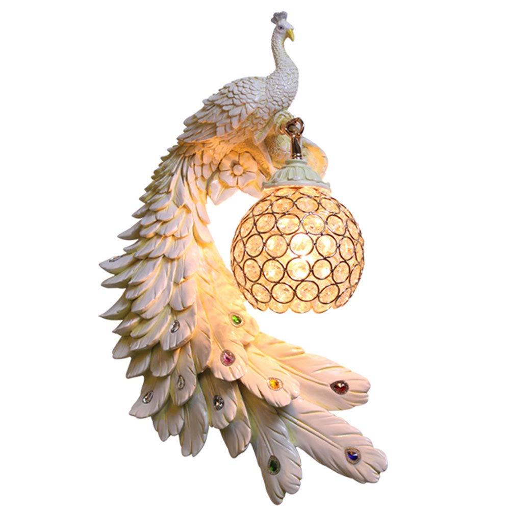 per poco costoso Lampada da parete in vetro di cristallo per soggiorno in in in resina di colore pavone in stile europeo da 27 cm  45 cm (design   4)  clienti prima reputazione prima
