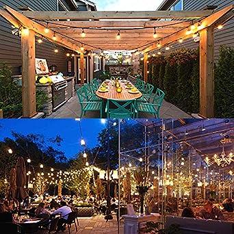 2 Paquetes] Svater Luces de Cadena, 2x15M Impermeable Cadena de Luz Guirnaldas Bombillas Luminosas de Exterior con 2x15 Globe LED Bombillas,Guirnalda Luces Exterior Perefcto para Jardín Patio Fiesta: Amazon.es: Iluminación