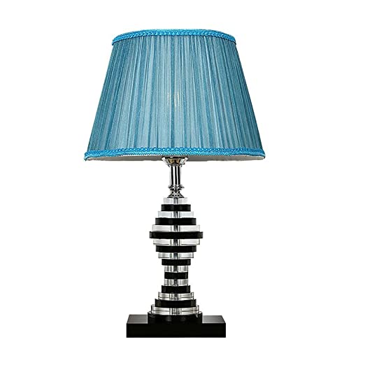 Oofwy e27 minimalist novelty romantic k9 crystal table lamp blue oofwy e27 minimalist novelty romantic k9 crystal table lamp blue lampshade illumination living room bedside decorative mozeypictures Images