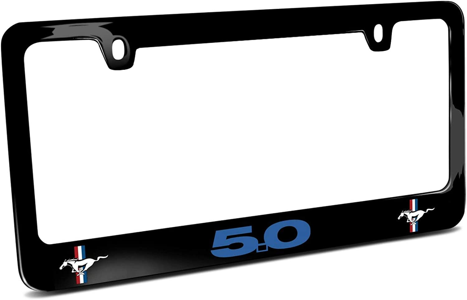 Dodge Charger R//T Classic Cover Chrome Black Metal License Plate Frame Holder