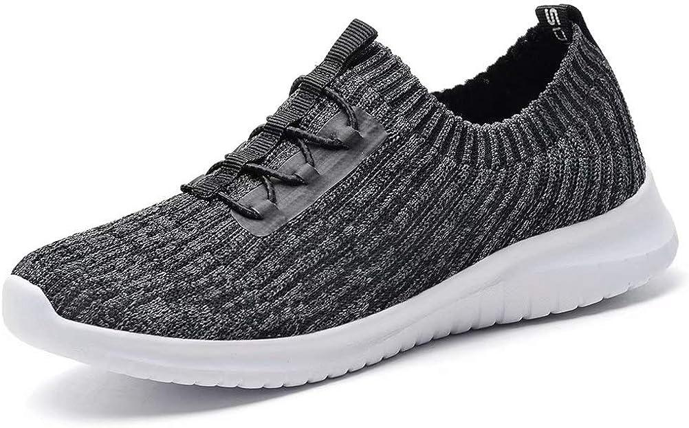 konhill Women's Comfortable Walking Shoes - Tennis Athletic Casual Slip on Sneakers