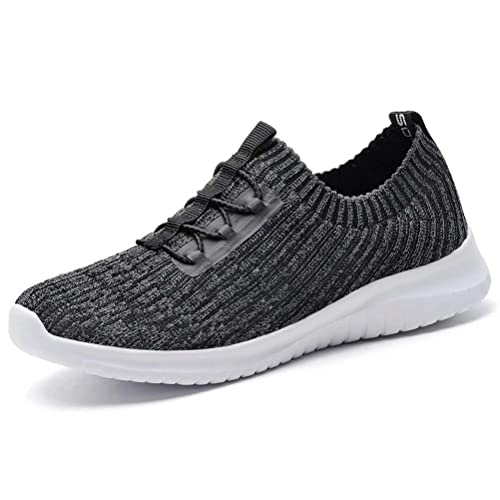 06709fb1440b8 konhill Women's Comfortable Walking Shoes - Tennis Athletic Casual Slip on  Sneakers