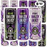Organic Amazon Energy Drink Sambazon, Acai Berry Pomegranate, Acai Berry, Acai Berry Passion Fruit - Ultimate Variety Pack, 12 Fl Oz (Pack of 10, Total of 120 Oz)