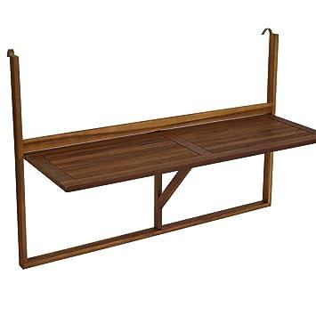 Balkonhängetisch grill  Amazon.de: FRG Balkonhängetisch in langer Ausführung 120cm, Akazie