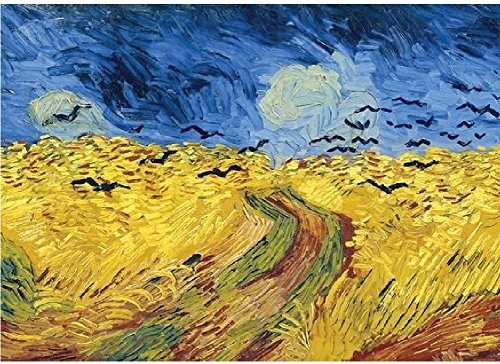 Tomax 1000 Pc Puzzle Wheatfield with Crows