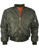 Mochoose Damen Klassische Bomber Jacke Gepolstert Stand Collar Coat Zipper Oberbekleidung