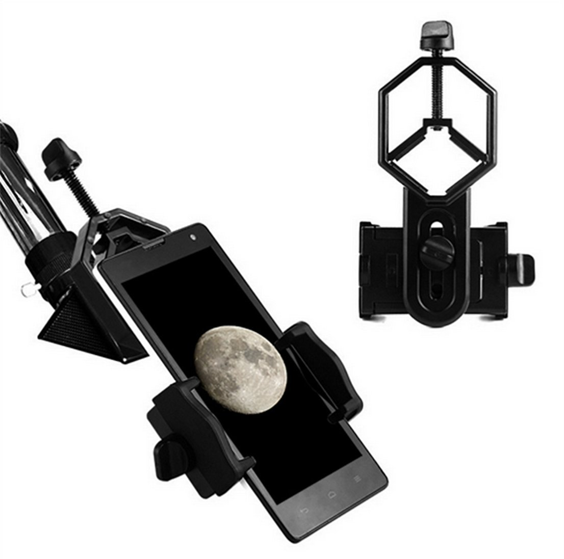 Universal Cell Phone Telescope Adapter Mount,Compatible with Binocular Monocular Spotting Scope Telescope and Microscope for iPhone Samsung Cellphone