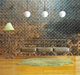 wall26 - Metal Texture Background - Removable Wall Mural | Self-adhesive Large Wallpaper - 66x96 inches