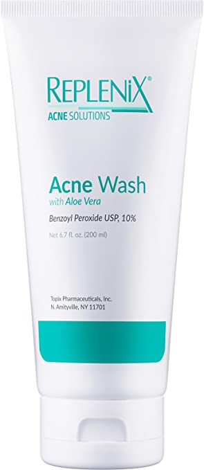 Amazoncom Replenix Acne Solutions 10 Benzoyl Peroxide Wash with