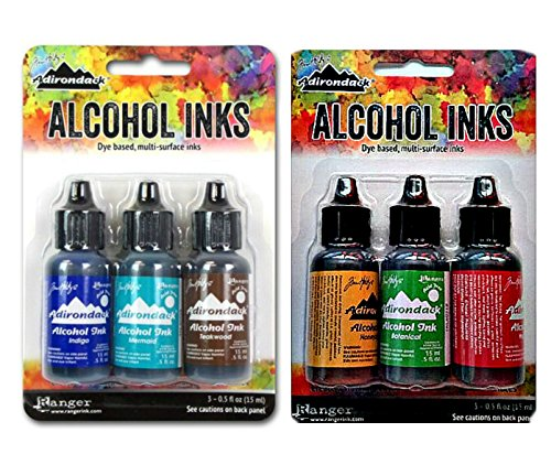 Adirondack Alcohol Ink Bundle Ink Set (Marina + Conservatory)