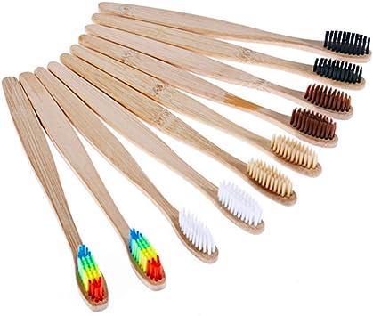 Cepillo de Dientes de Bambú de 10 piezas, Biodegradable y ...