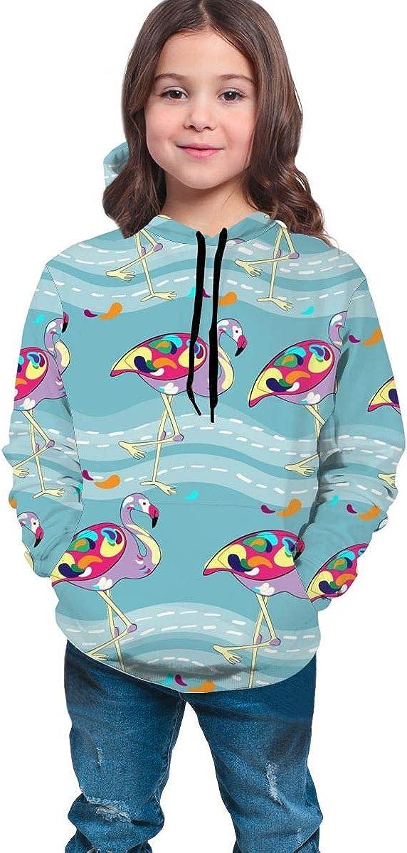 Hawaii Flamingo Unisex Pullover Teens Hoodie Hooded Sweatshirt Colorful