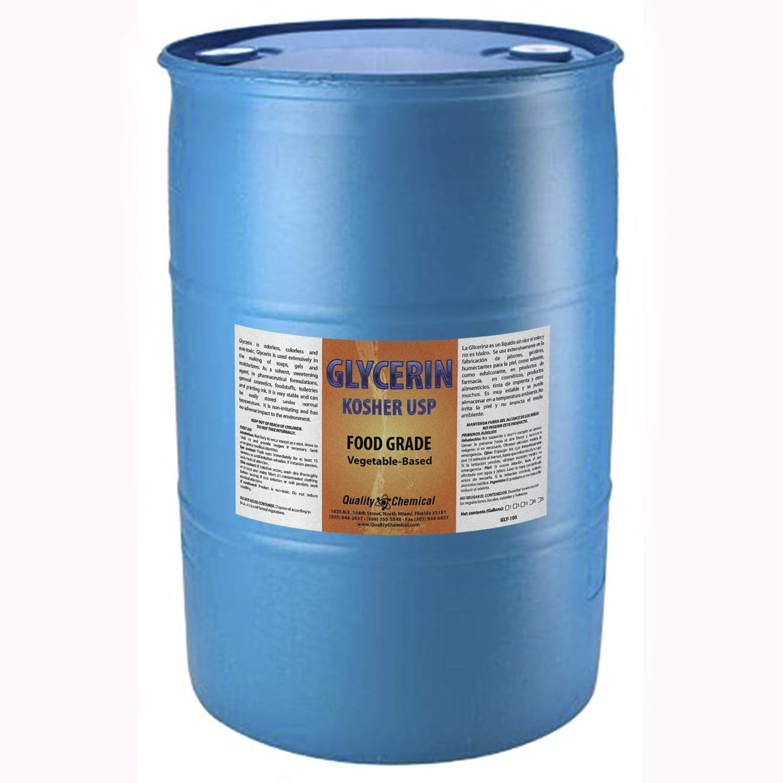 野菜グリセリン - すべて天然 コーシャ USPグレード - プレミアム品質液体グリセリン 優れたエモリエント品質 素晴らしい肌と髪の利点 DIY美容製品 - 55ガロンドラム B07L5X17TC