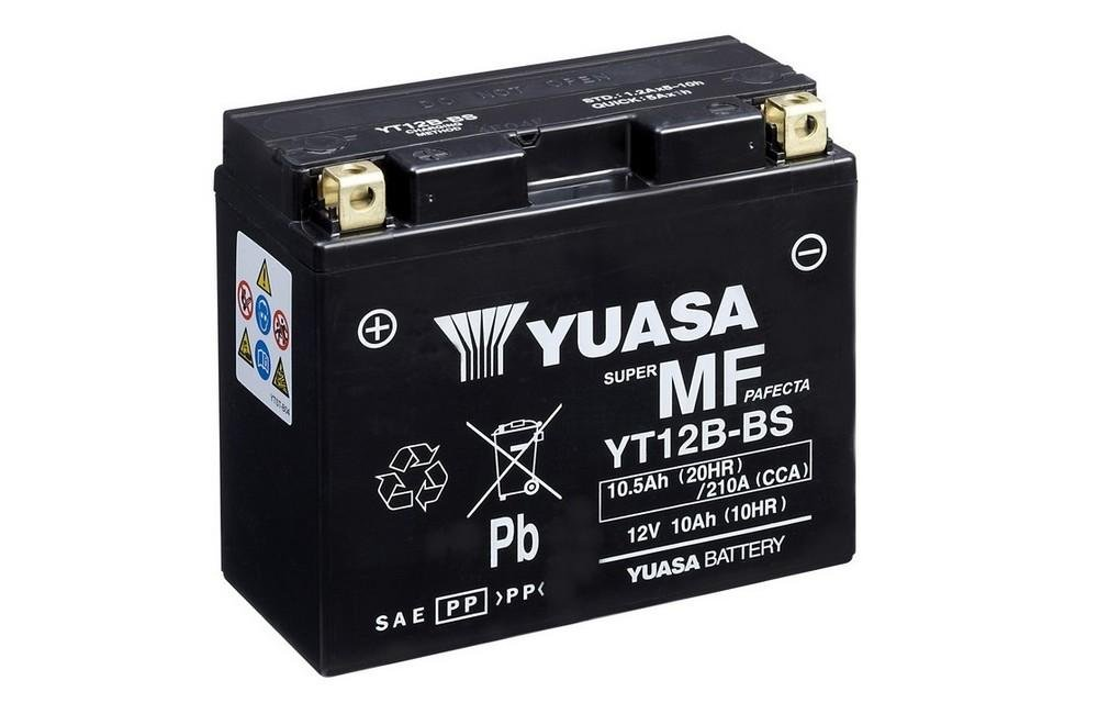12V//10AH Ma/ße: 150x69x130 f/ür Ducati 821 Hypermotard Baujahr 2013 Batterie YUASA YT12B-BS