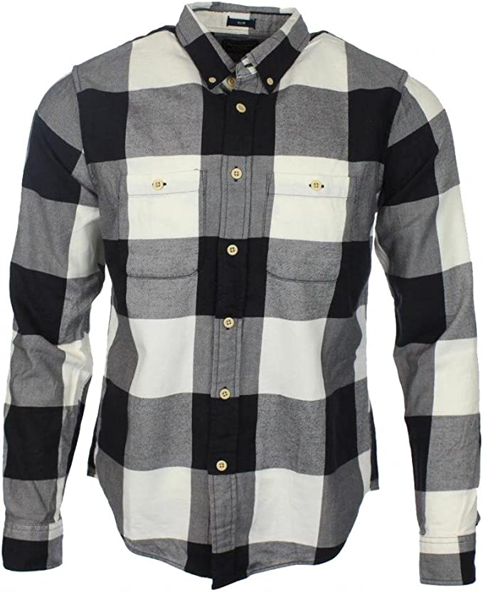 Abercrombie & Fitch - Camisa casual - para hombre negro blanco M ...