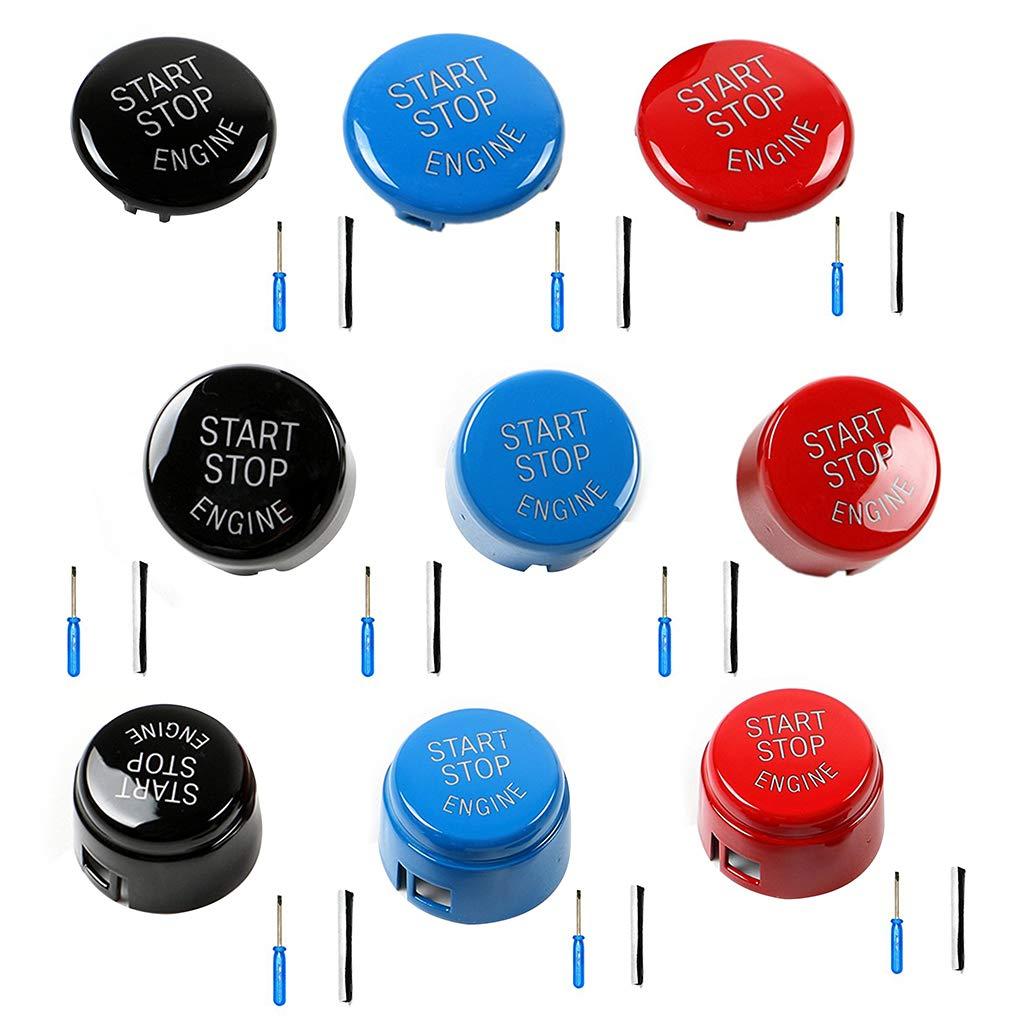 Morza ABS bot/ón del Interruptor del Motor de Coche Start Stop Cubierta para E60 E70 E71 E90 E92