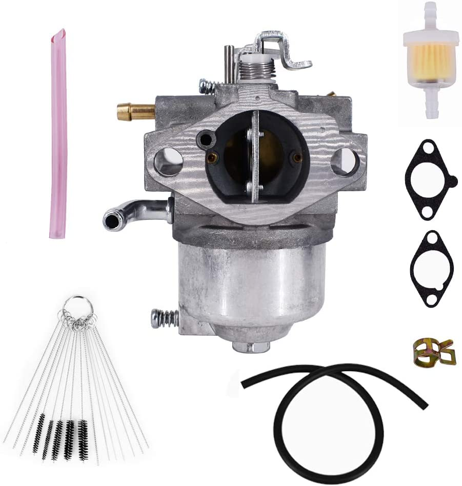 Carburetor for Kawasaki FB460V 4 Stroke Engine 15003-2796 15003-2777 Carb with Gaskets Filter Clamp Fuel Line Cleaner Tool Kit