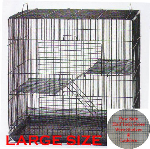 30″ Large 3-Levels Ferret Chinchilla Sugar Glider Rats Mice Mouse Rodent Hamster Gerbil Hedgehog Small Animal Critter Cage
