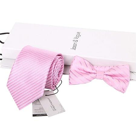 Yingsssq Corbata de Lazo de Corbata de Lazo de Rayas Rosa de 8 cm ...