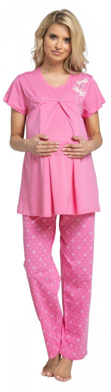 HAPPY MAMA Women's Maternity Pyjamas Nursing Top Trouser Bottoms Nightwear.519p pregnight_519