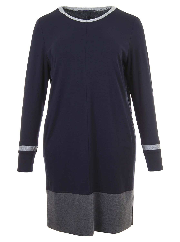 Sportliches Pulloverkleid in marine in Übergrößen (46, 48, 50, 52) von Evelin Brandt