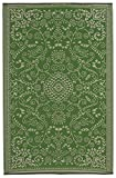 Fab Habitat Murano Recycled Plastic Rug,  Lime Green & Cream, (4' x 6')