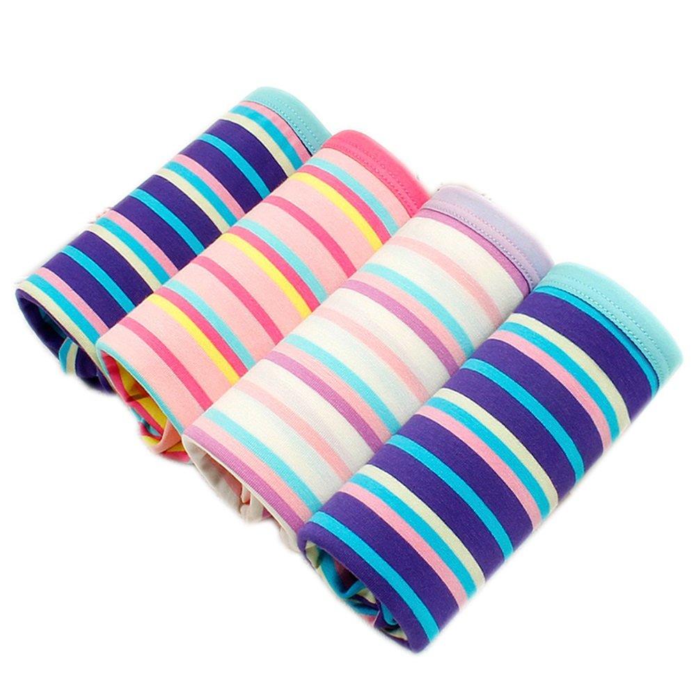 Damas rayas sexy en la cintura ropa interior modal (4 cargado) ( Color : 1# , Tamaño : 24-25 )